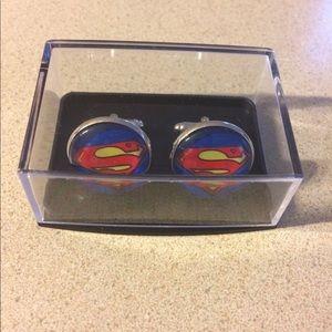 Superman inspired cuff links.